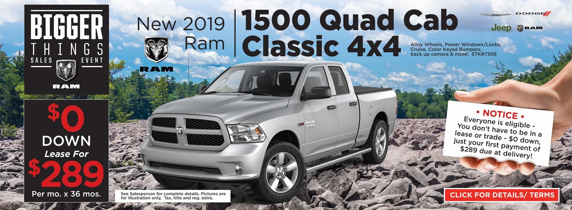 2019 RAM Quad Cab