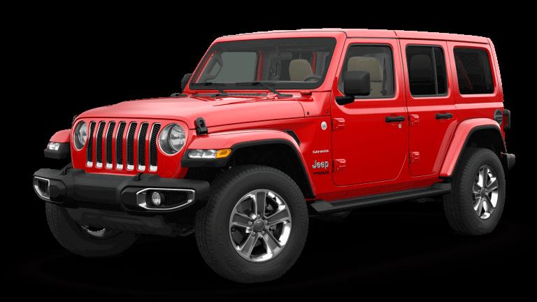 red 2019 Jeep Wrangler Sahara