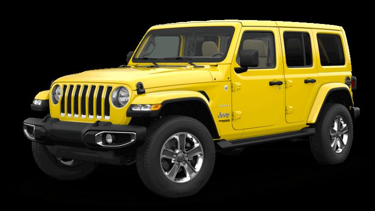 yellow 2019 Jeep Wrangler Sahara Altitude