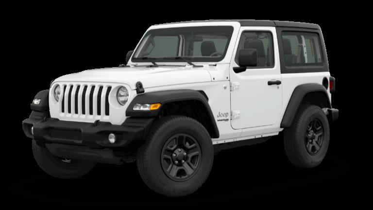 white 2019 Jeep Wrangler Sport