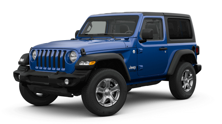 blue 2019 Jeep Wrangler Sport S