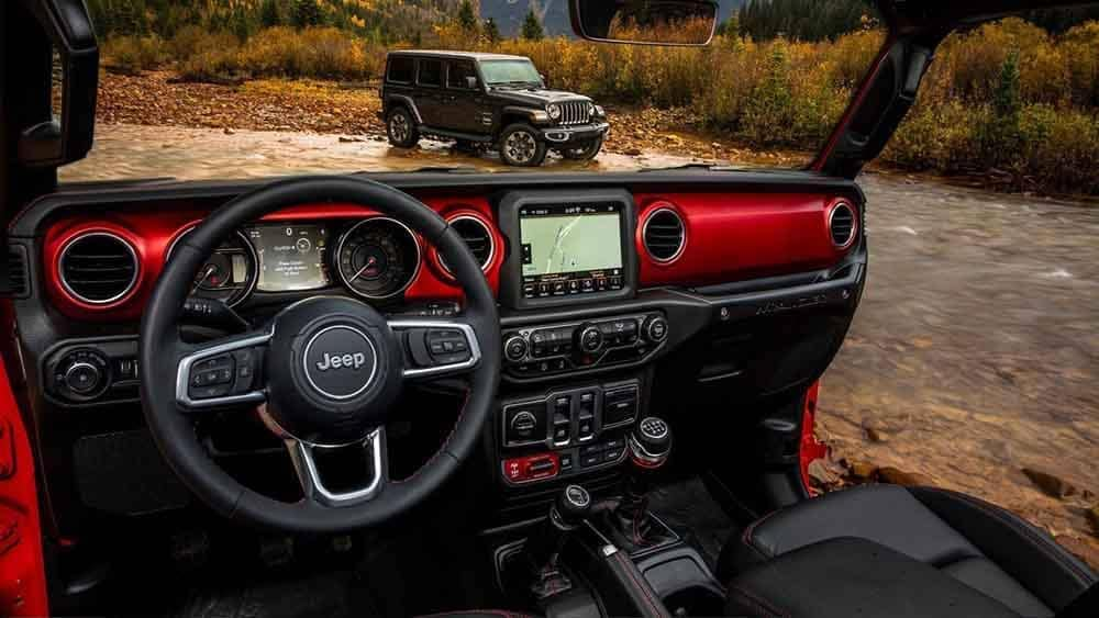 Jeep Wrangler touch screen