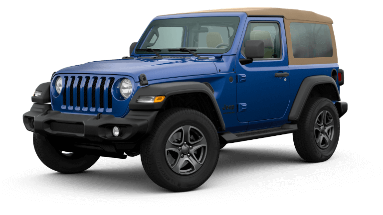 2020 Jeep Wrangler Black and Tan - Ocean BLue