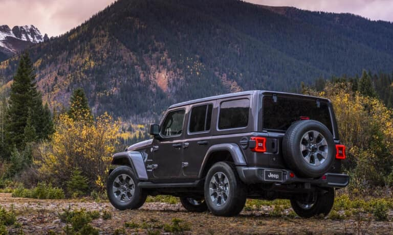 2020 jeep wrangler exterior from behind in valley