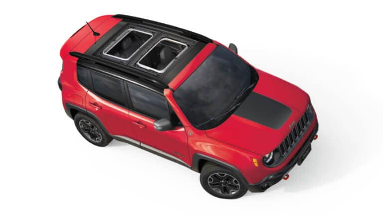 2020 Jeep Renegade Trailhawk exterior overhead view
