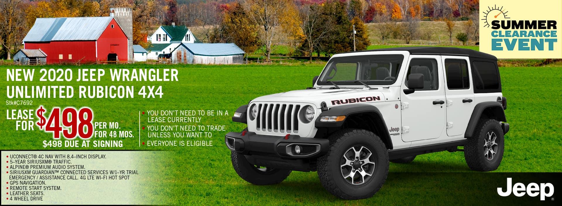 2020 Jeep Wrangler Lease Offer | Midstate CDJR