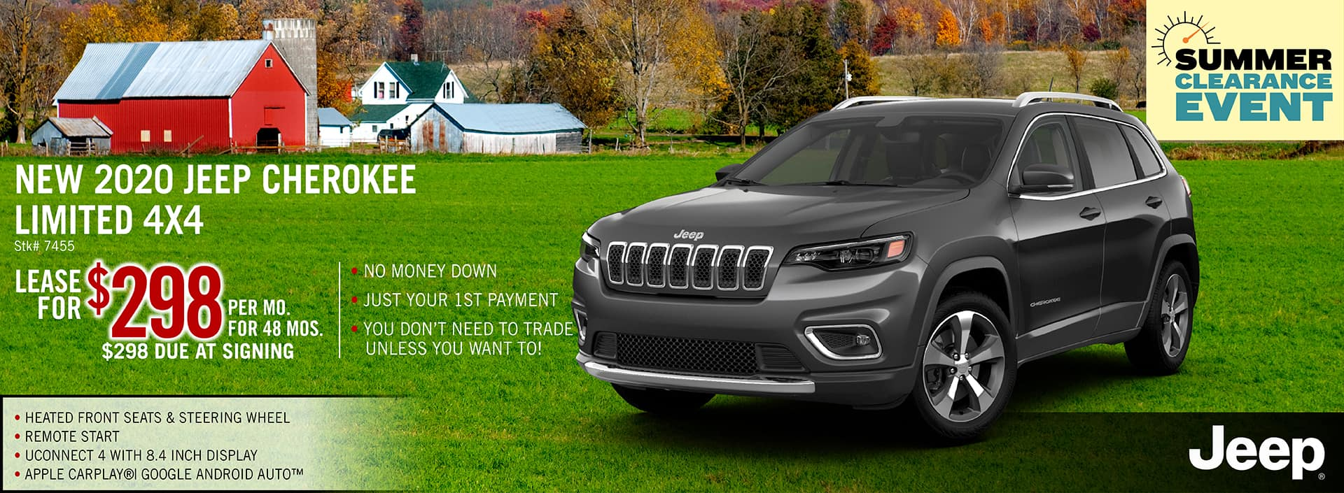 2020 Jeep Cherokee Lease Offer | Midstate CDJR