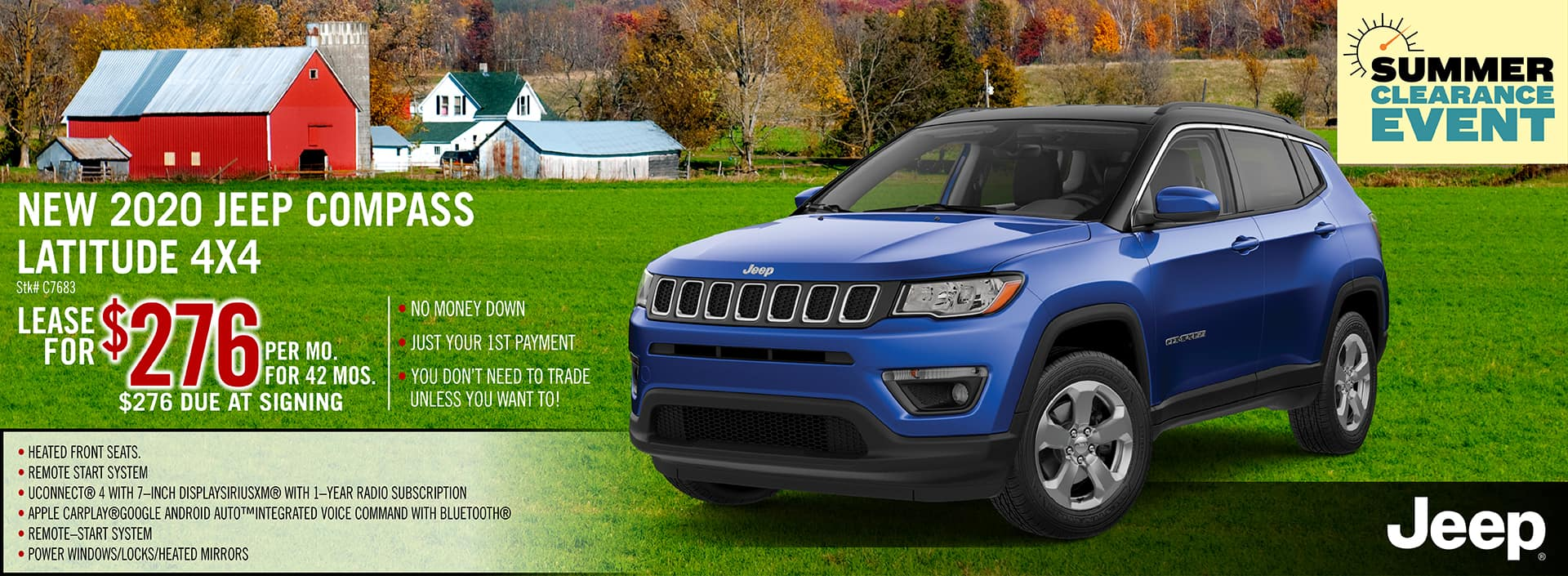 2020 Jeep Compass Lease Offer | Midstate CDJR