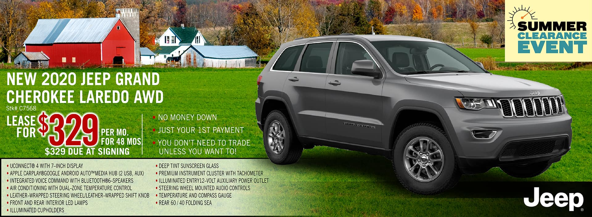2020 Jeep Grand Cherokee Lease Offer | Midstate CDJR