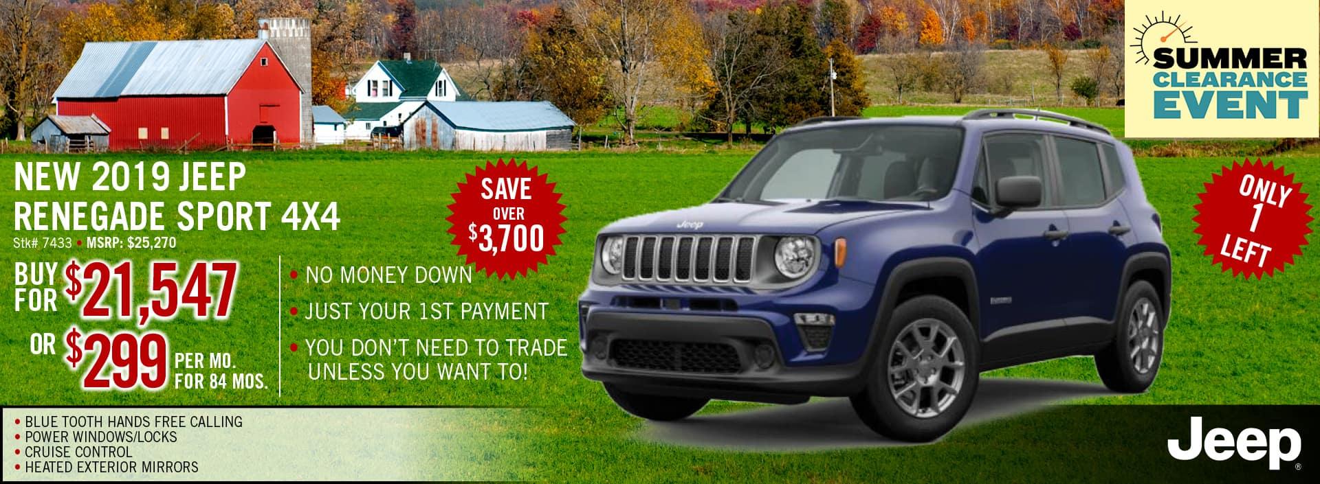 2019 Jeep Renegade Finance Offer | Midstate CDJR