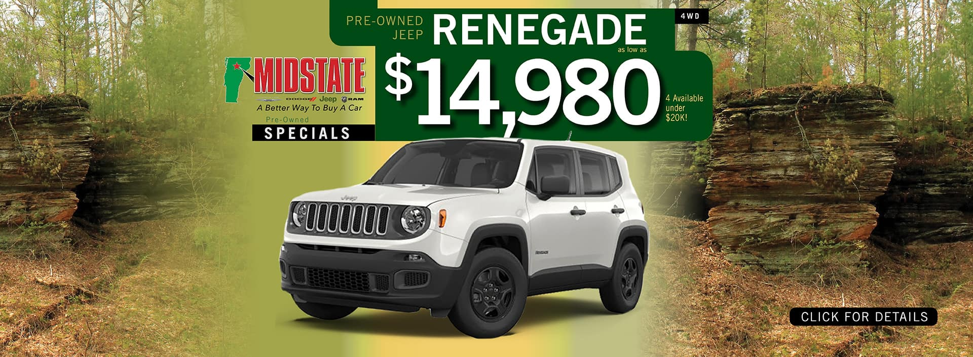 Used Jeep Renegade Pre-Owned Offer | Barre, VT