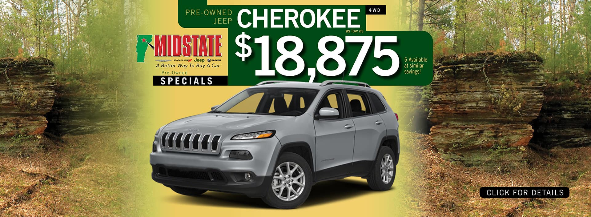Used Jeep Cherokee Pre-Owned Offer | Barre, VT