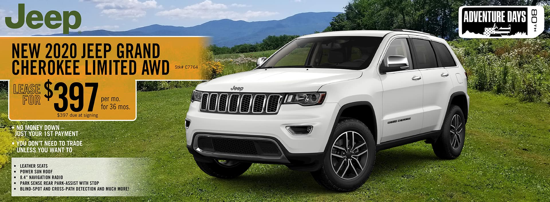 2020 Jeep Grand Cherokee Limited AWD. lease deal $397 for 36 Months | Barre, VT