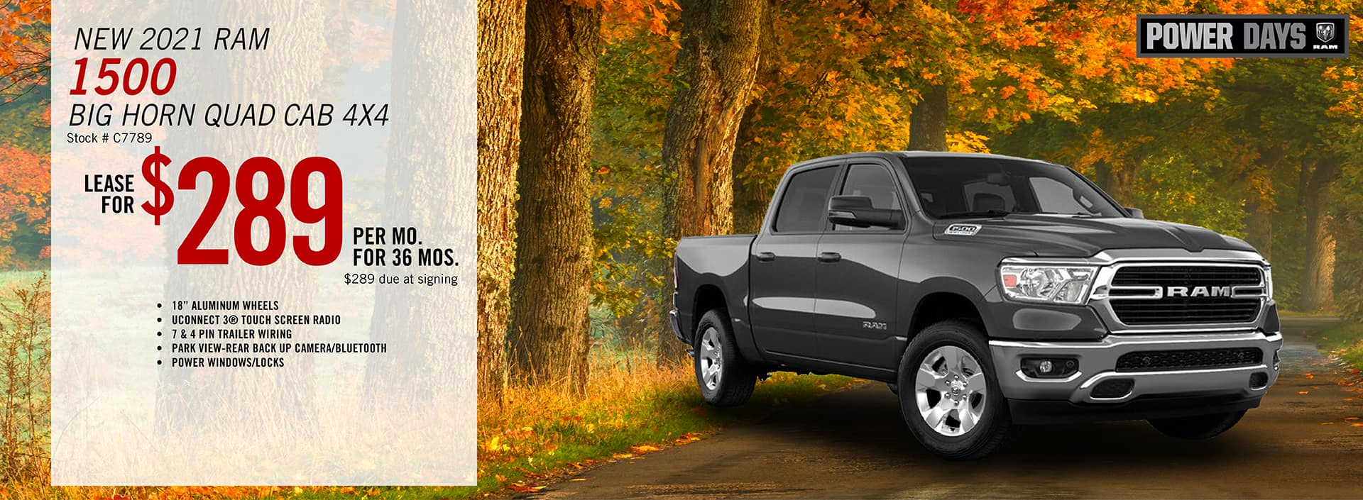 2021 RAM 1500 Big Horn Quad Cab Lease Offer | Barre, VT
