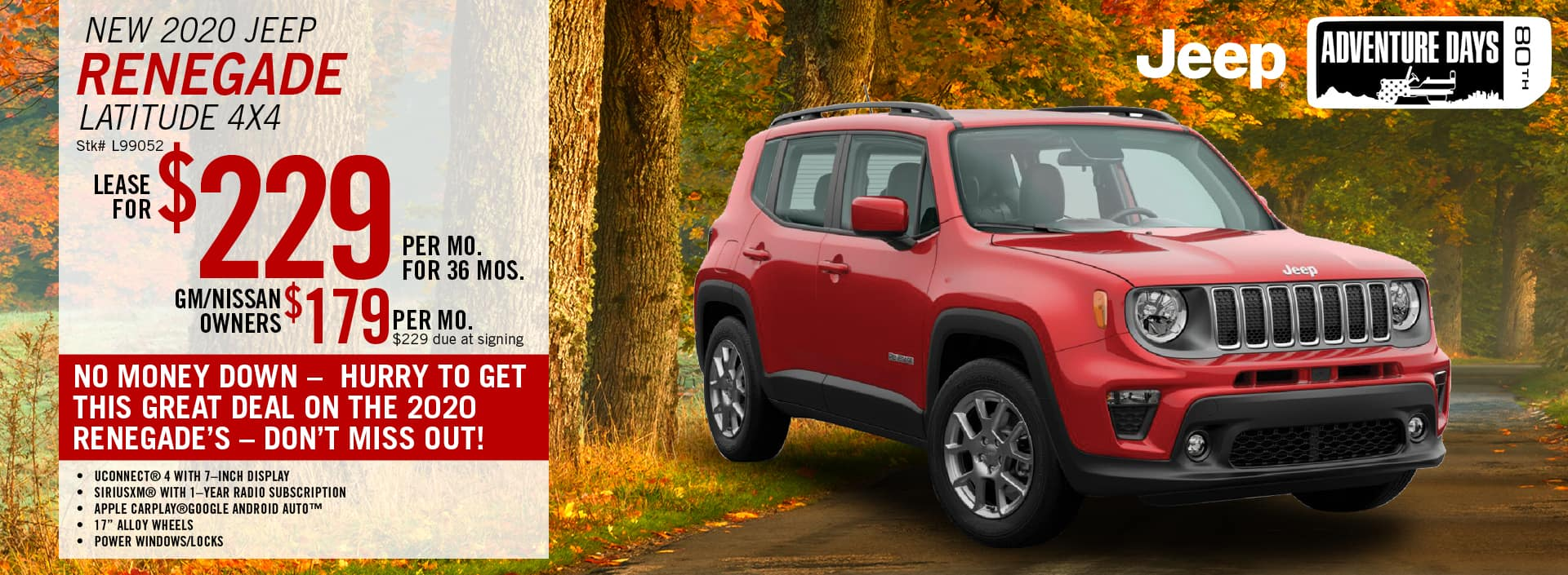 2020 Jeep Renegade Latitude Lease Offer | Barre, VT