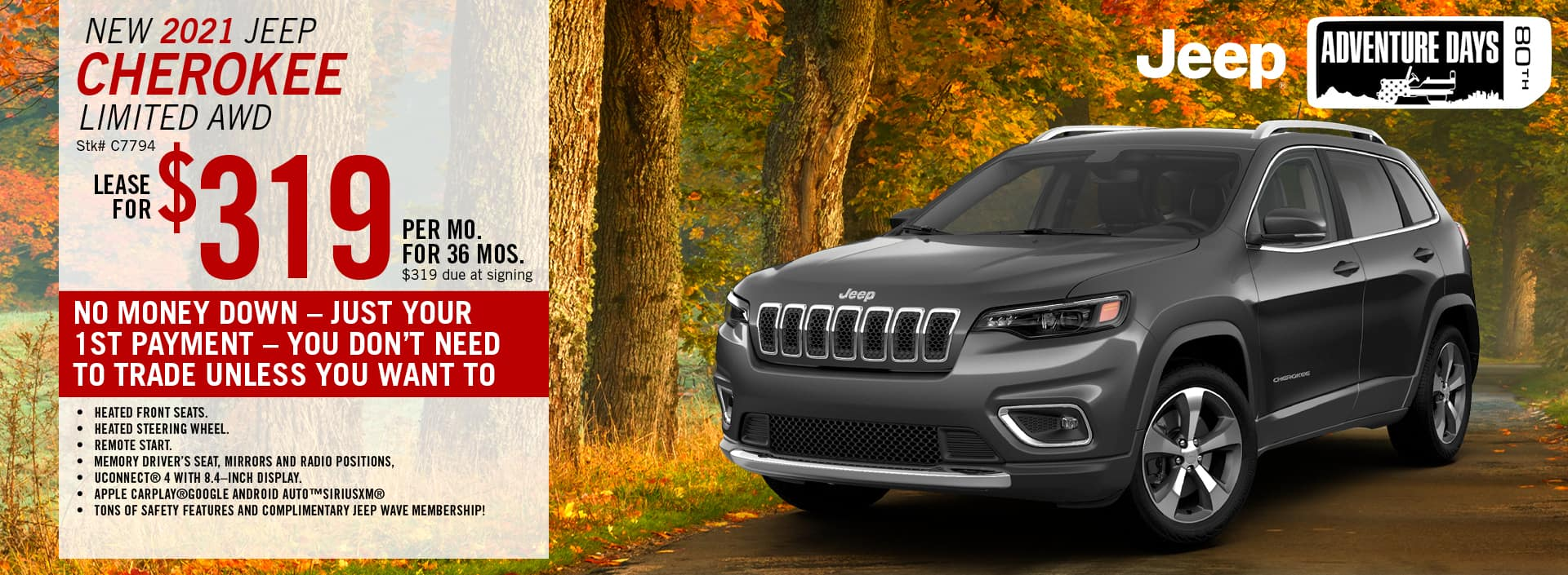 2020 Jeep Cherokee Lease Offer | Barre, VT