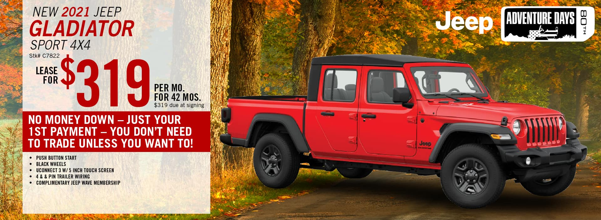2020 Jeep Gladiator Lease Offer | Barre, VT