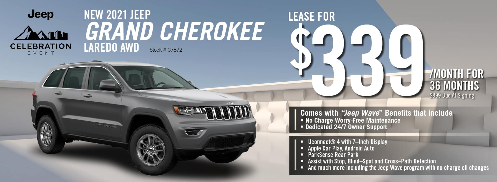 2021 Jeep Grand Cherokee Lease Offer | Barre, VT
