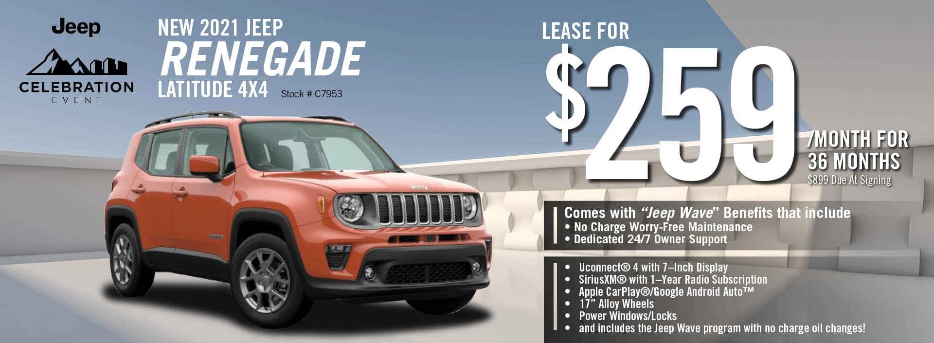 2021 Jeep Renegade Lease Offer | Barre, VT