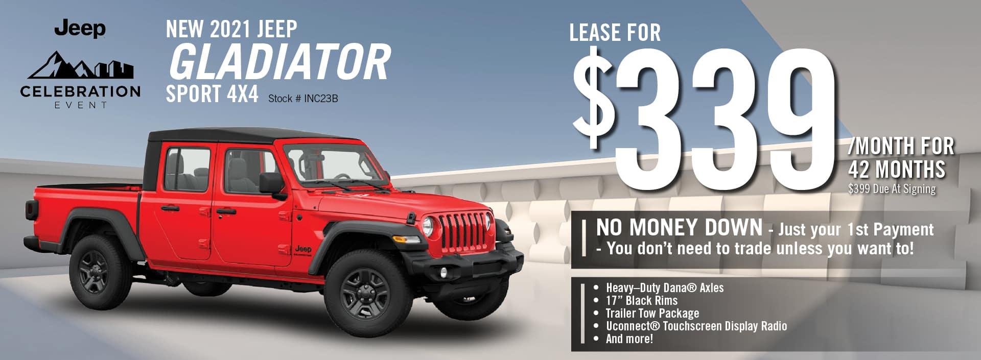 2021 Jeep Gladiator Lease Offer| Barre, VT