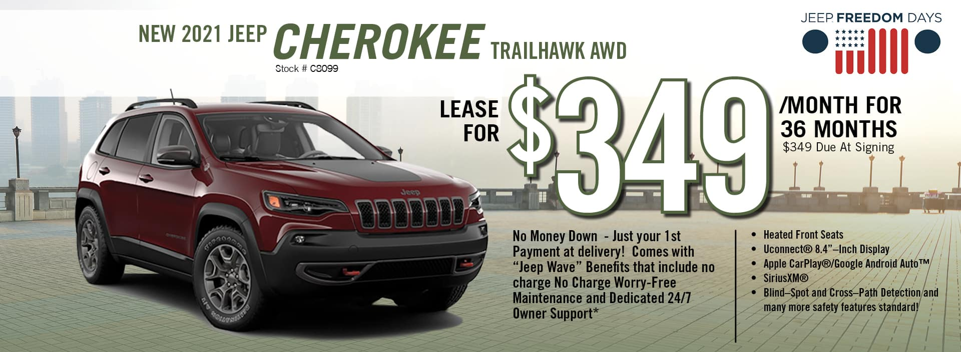 2021 Jeep Cherokee Lease Offer | Barre, VT