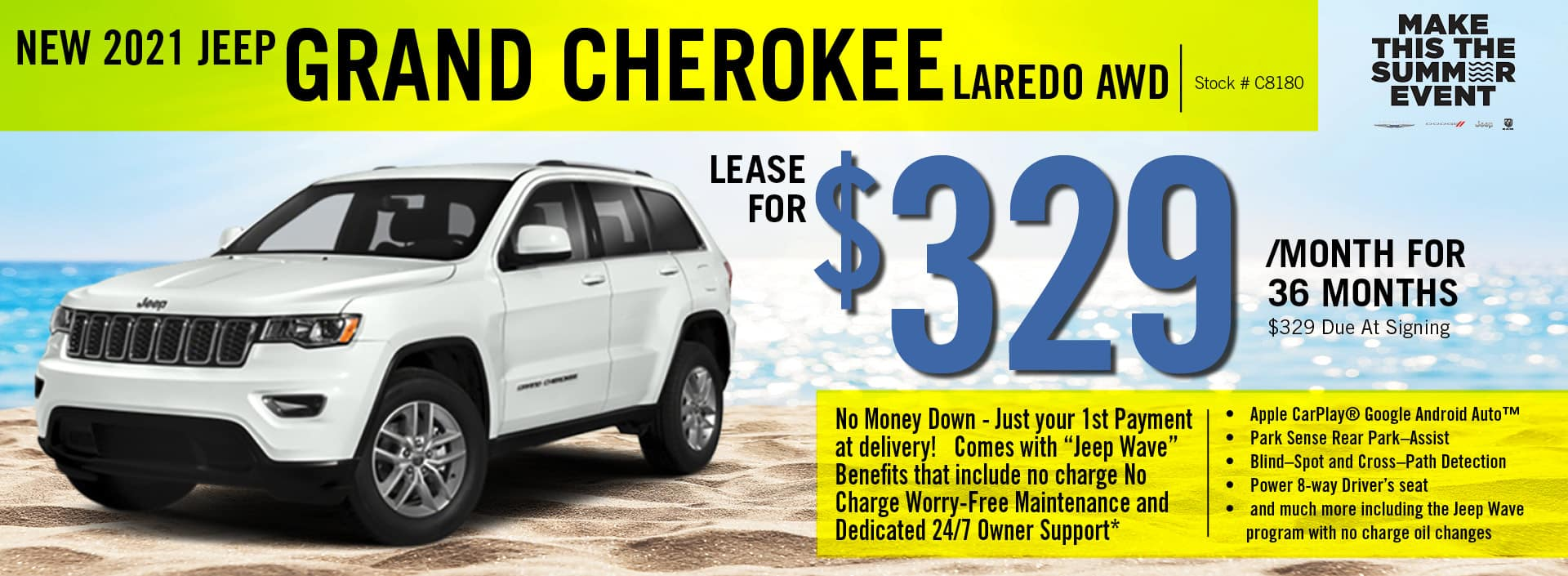 2021 Jeep Grand Cherokee Lease Offer   Barre, VT