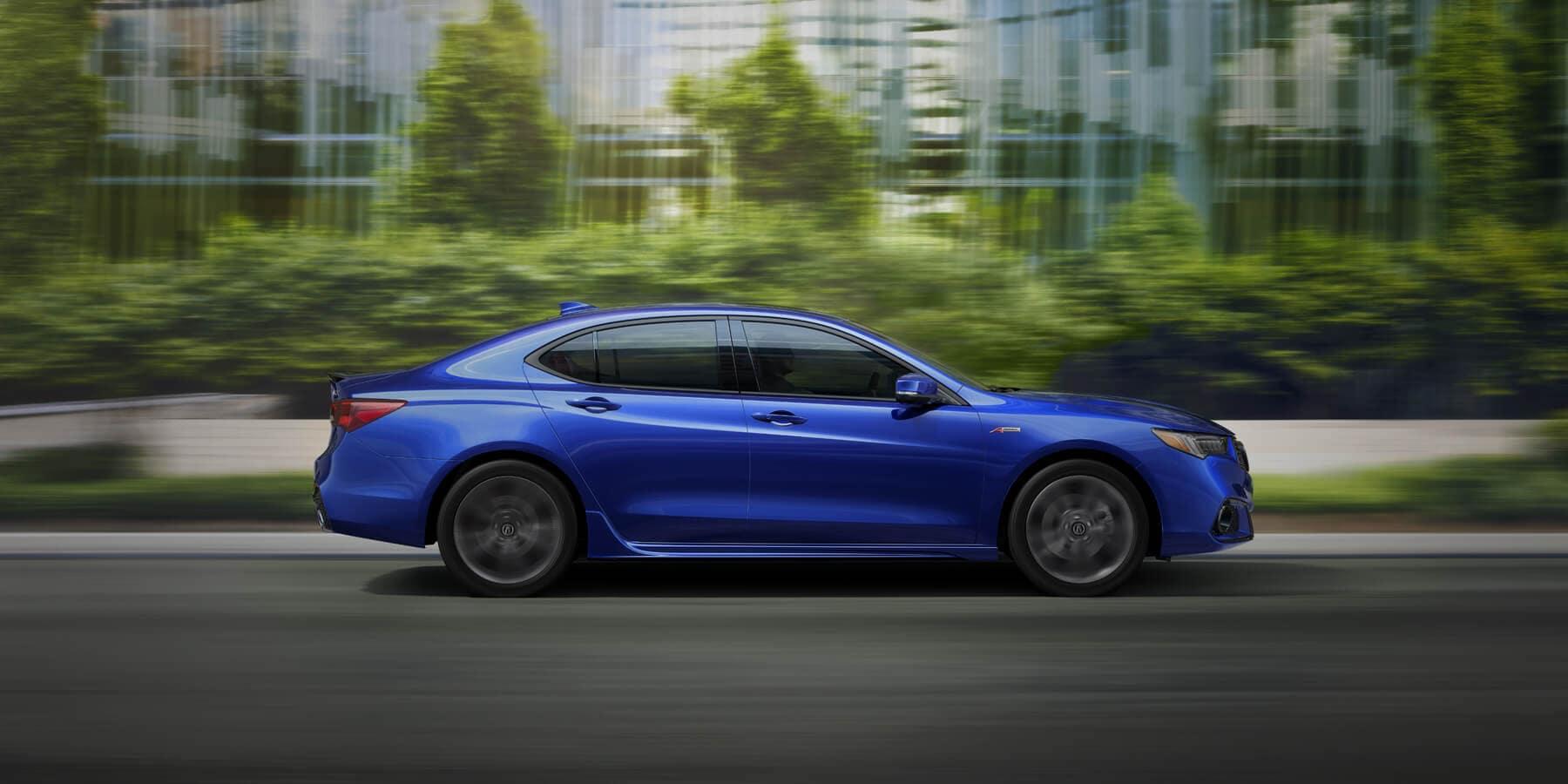 2020 Acura TLX Apex Blue Pearl Side Profile