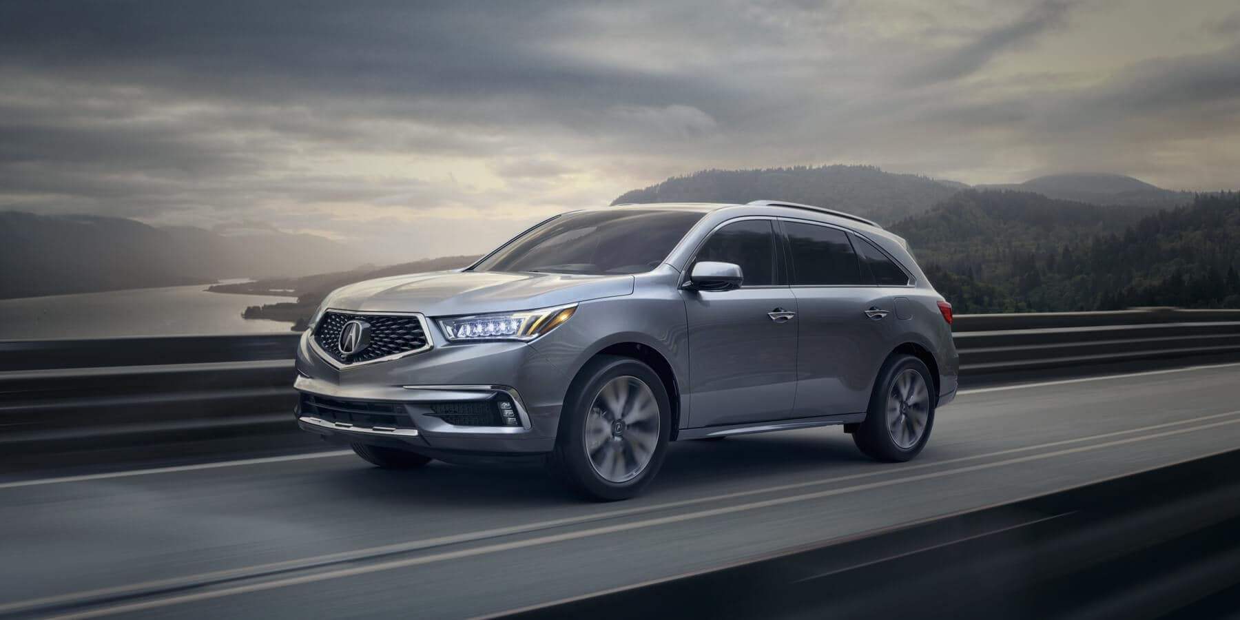 2019 Acura MDX Exterior Front Angle Driver Side Bridge HP Slide