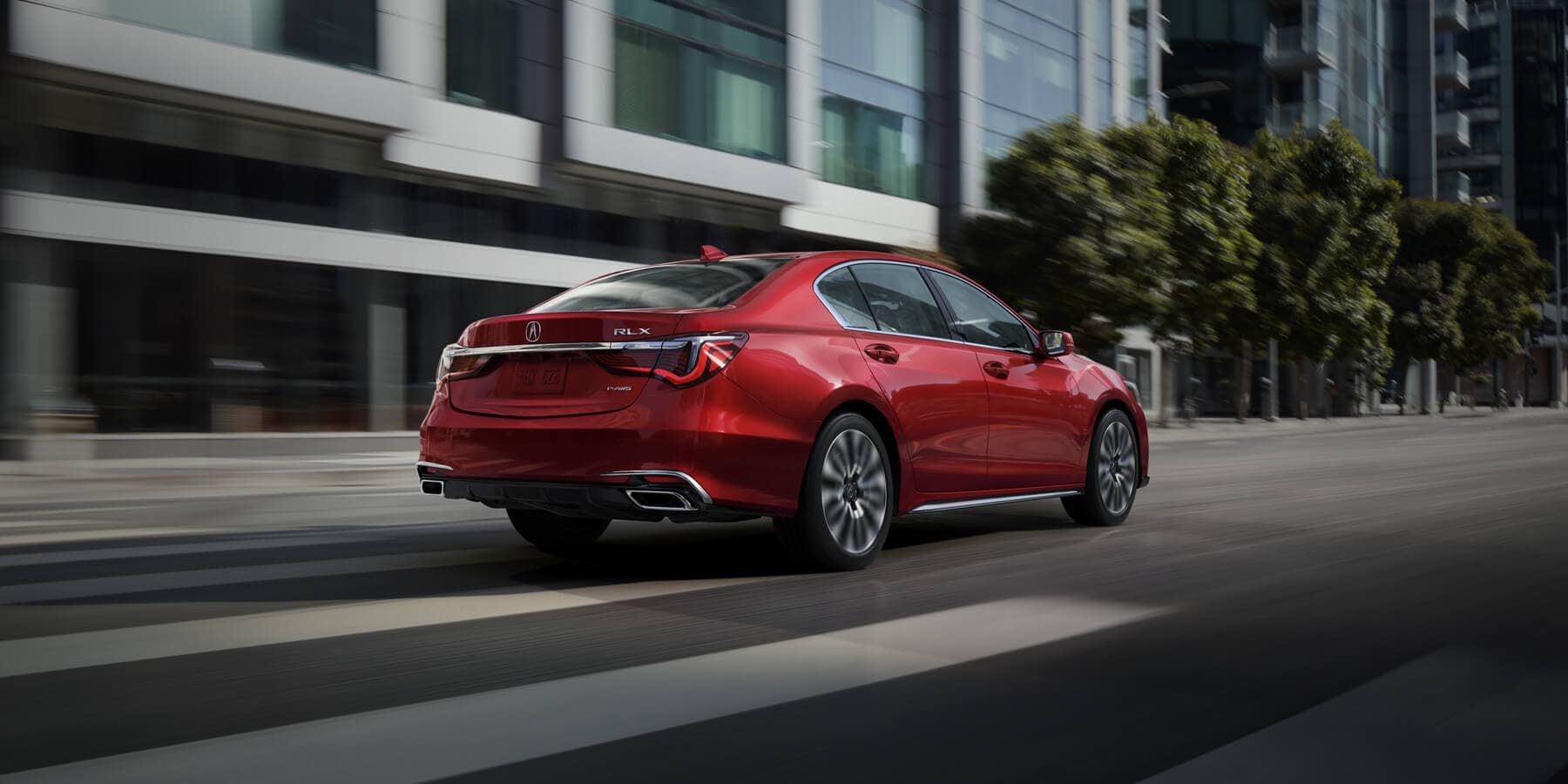 2020 Acura RLX Brilliant Red Metallic Rear Angle