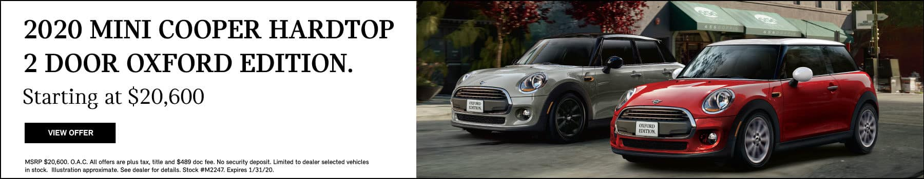 2020 MINI Cooper Hardtop 2 Door Oxford Edition.  Starting at $20,600. View Offer