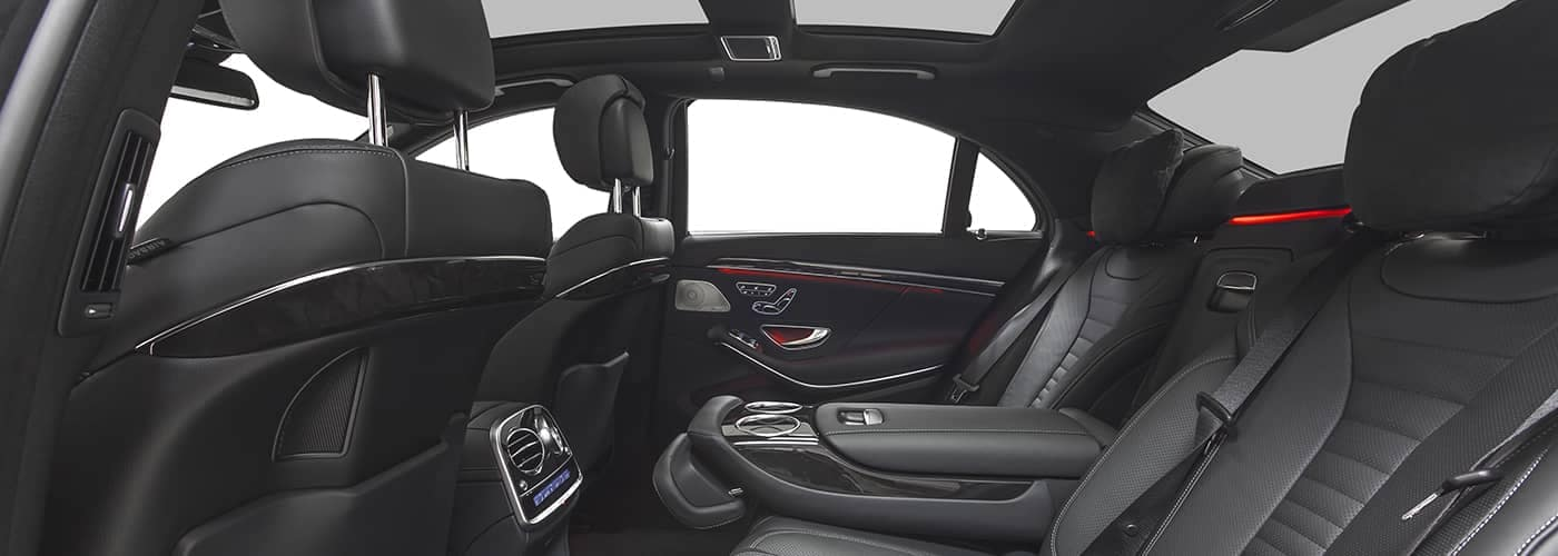Car Interior with Leather Seating