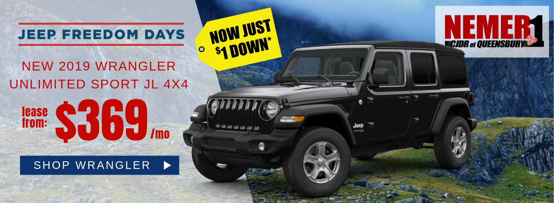 April 2019 Jeep Wrangler Offer Freedom Days