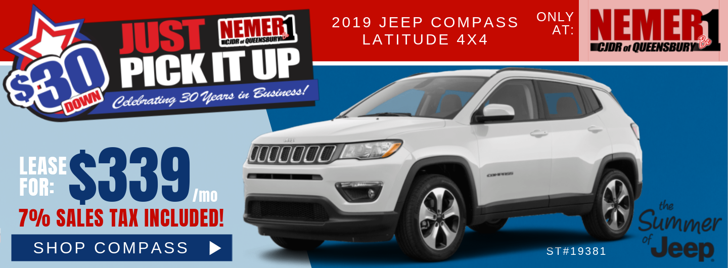 $339 Jeep Compass July