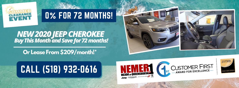 2020 Cherokee Nemer Queensbury August Offer