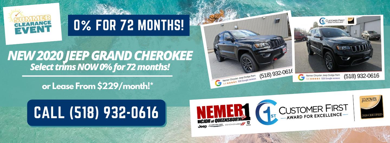 2020 Grand Cherokee Nemer Queensbury August Offer