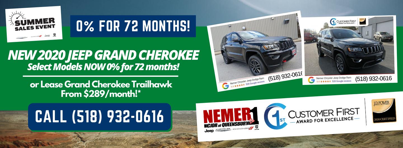 Grand Cherokee Queensbury July Lease 0% APR