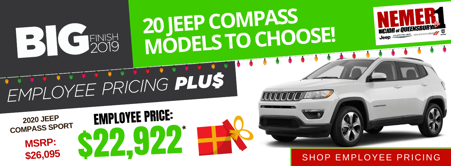 December 2020 Jeep Compass Employee Price