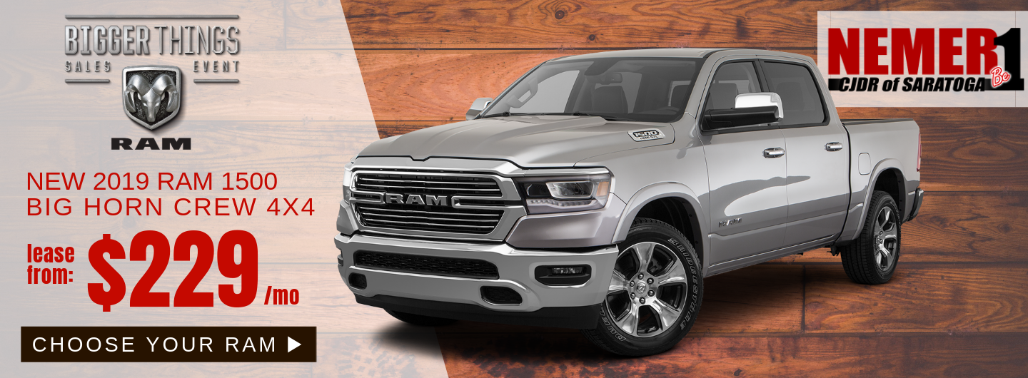 Ram 1500 Lease Offer, May 2019, Nemer CJDR Saratoga