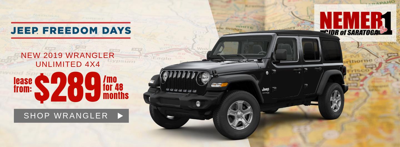 Wrangler Jeep Freedom Days Lease