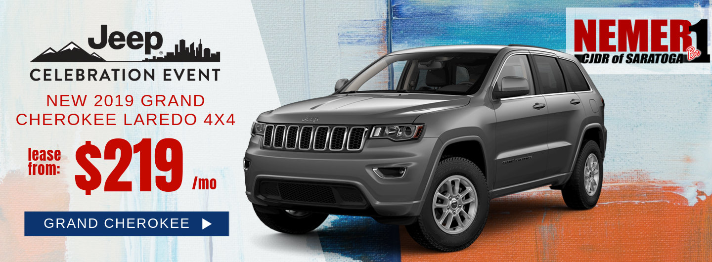 Grand Cherokee Lease offer May, Nemer CJDR Saratoga