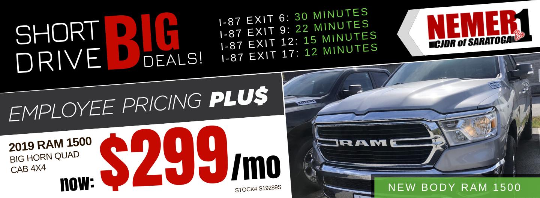 November Employee Pricing Plus Ram 1500 Lease