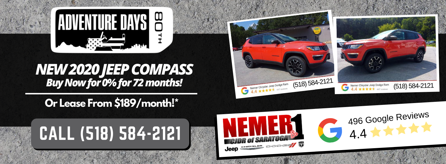 2020 Jeep Compass Lease and Finance Offer September Saratoga
