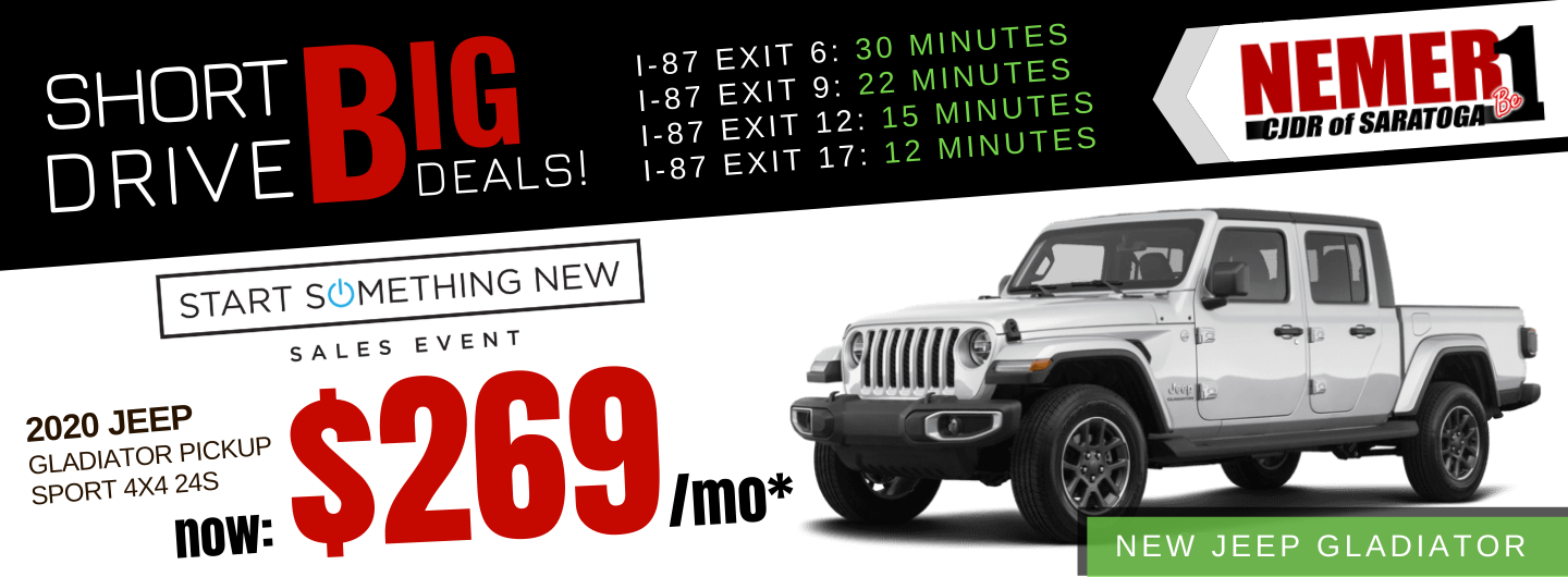 Jeep Gladiator January 2020 Lease Offer