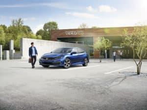 2019 Honda Civic Aegean Blue Metallic