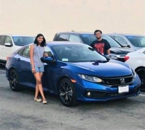 Blue Honda Civic near Tustin CA
