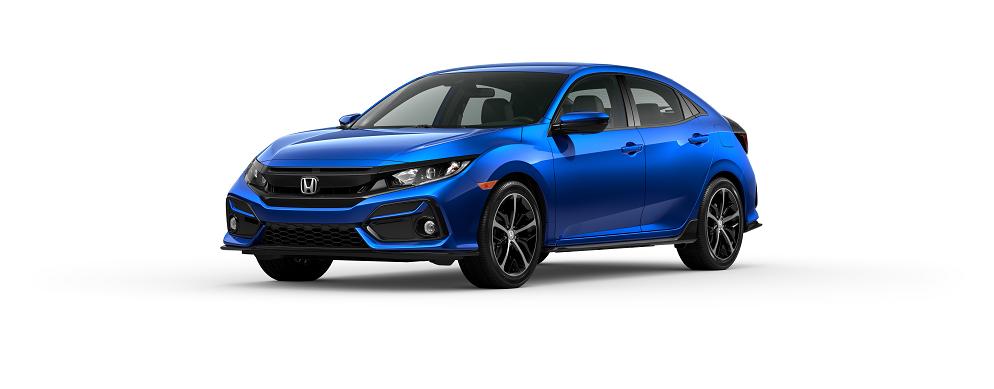 2020 Honda Civic Hatchback Aegean Blue