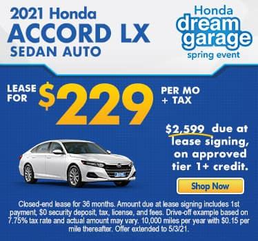 New 2021 Honda Accord LX Sedan Auto