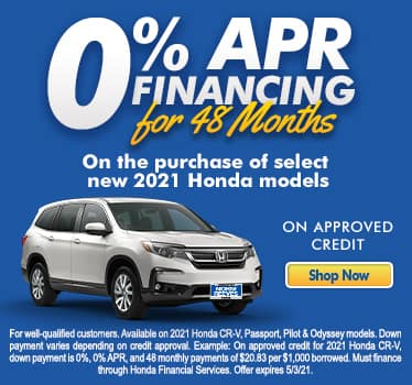 0% APR financing for 48 Months