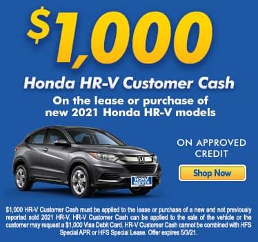 $1,000 Honda HR-V Customer Cash