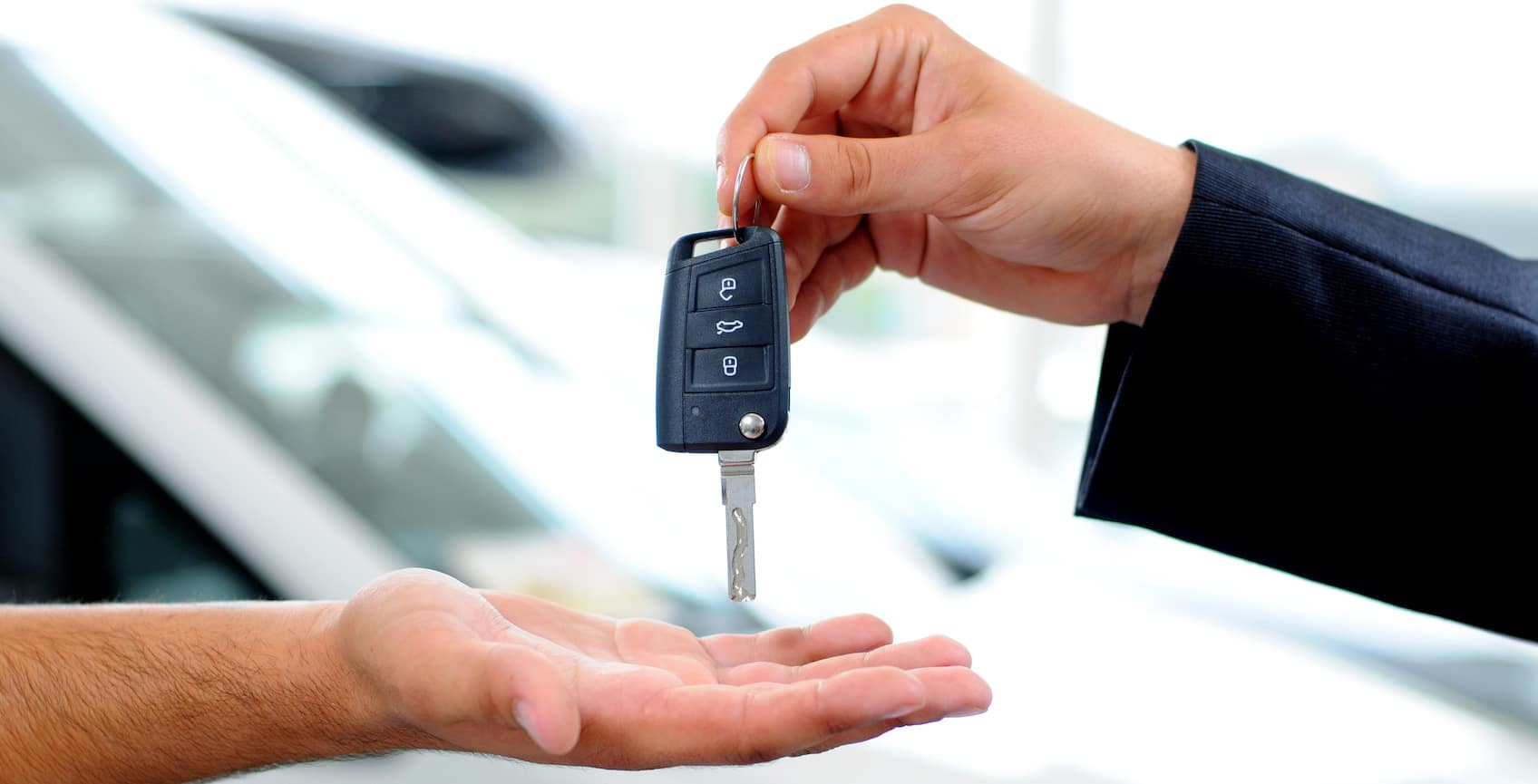 Handover of keys in dealership